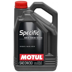 Моторне масло MOTUL SPECIFIC 506 01 506 00 503 00 0W-30 (Каністра 5л)