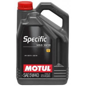Моторное масло MOTUL SPECIFIC 505 01 502 00 5W-40 (Канистра 5л)