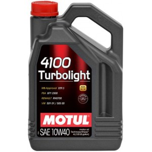 Моторное масло MOTUL 4100 TURBOLIGHT 10W-40 (Канистра 4л)
