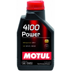 Моторне масло MOTUL 4100 POWER 15W-50 (Каністра 1л)