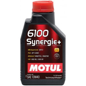 Моторное масло MOTUL 6100 SYNERGIE+ 10W-40 (Канистра 1л)