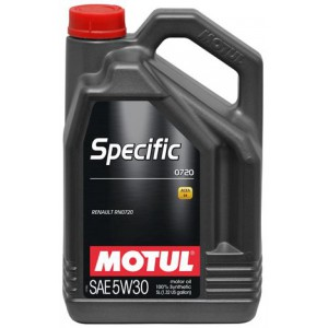 Моторное масло MOTUL SPECIFIC 0720 5W-30 (Канистра 5л)