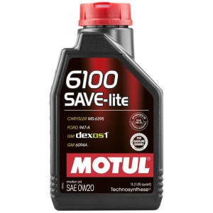 Моторне масло MOTUL 6100 SAVE-LITE 0W-20 (Каністра 1л)