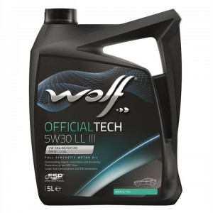 Моторне масло Wolf Officialtech 5W-30 LL III (Каністра 5л)